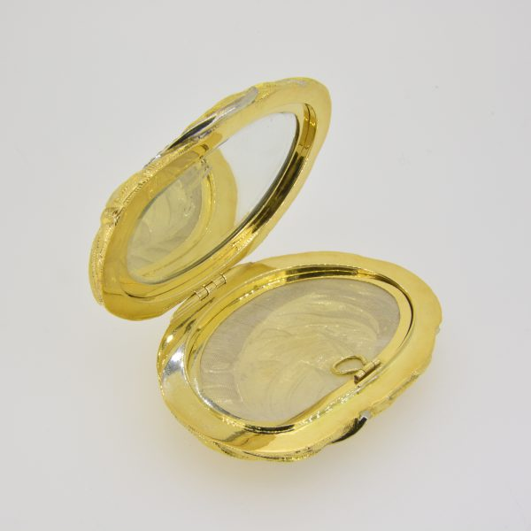 18ct gold and diamond compact