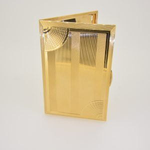 Art deco 18ct gold cigarette case