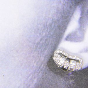 1930s diamond ear-clips