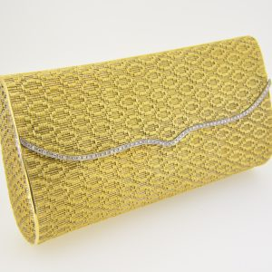 18ct gold and diamond clutch bag