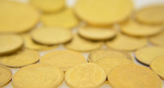 various gold coins