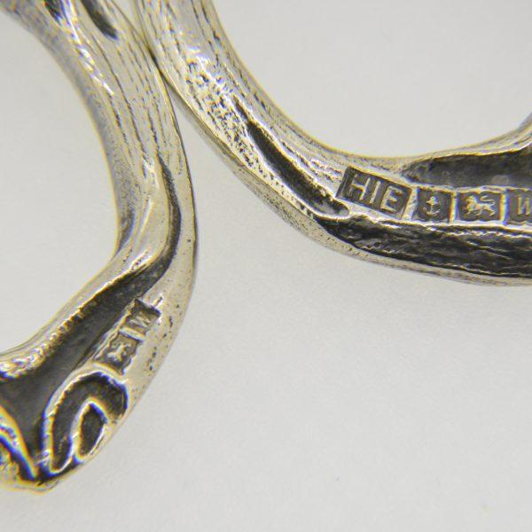Cast silver grape scissors