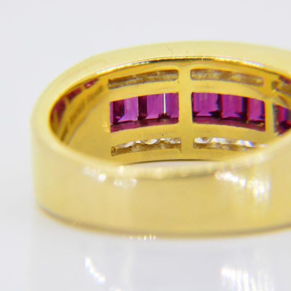 Ruby, diamond half-eternity ring