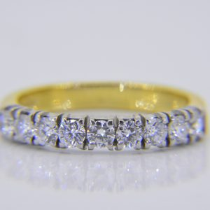 Diamond 9-stone half-eternity ring