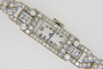 1930s Art deco diamond wristwatch