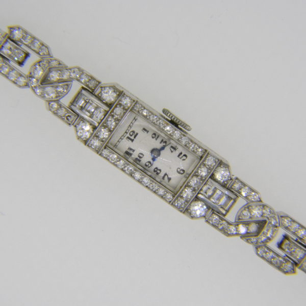 1930s Art deco diamond wristwatch