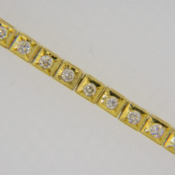 Diamond line tennis bracelet