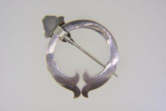 Victorian silver penannular brooch