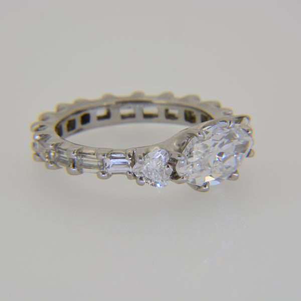Diamond handmade eternity ring