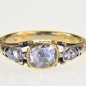 Antique rose diamond ring, C1720