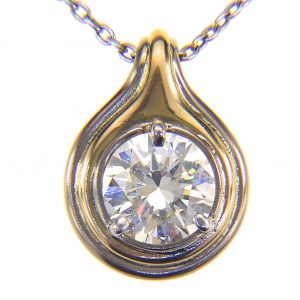 1.5ct diamond 18ct pendant