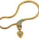 Victorian gold snake bracelet