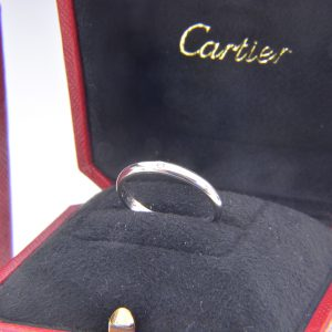 Cartier, platinum, diamond wedding band ring