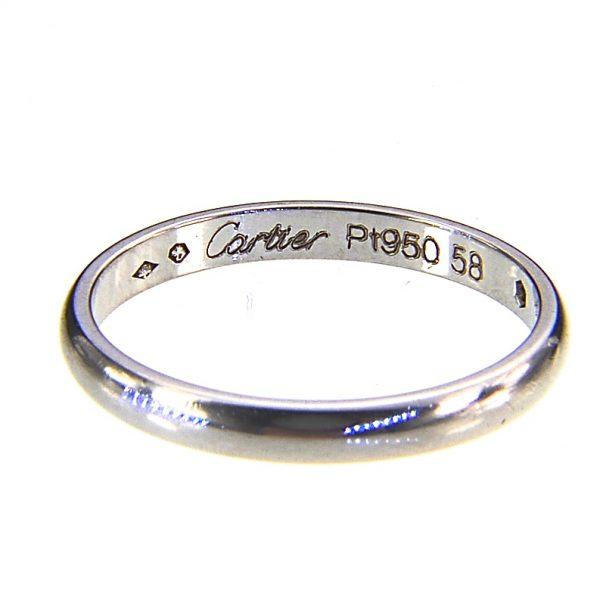 Cartier, platinum, diamond wedding band ring