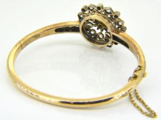 Victorian diamond bangle reverse