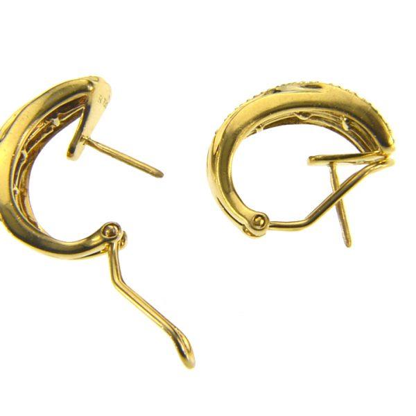 Diamond 18K ear-clip