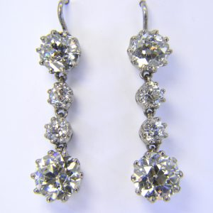 7.5ct Diamond drop earrings