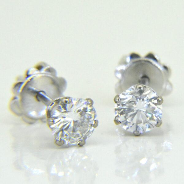 1ct diamond ear-studs