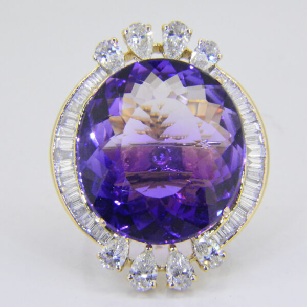 Amethyst diamond ring Jethro Marles