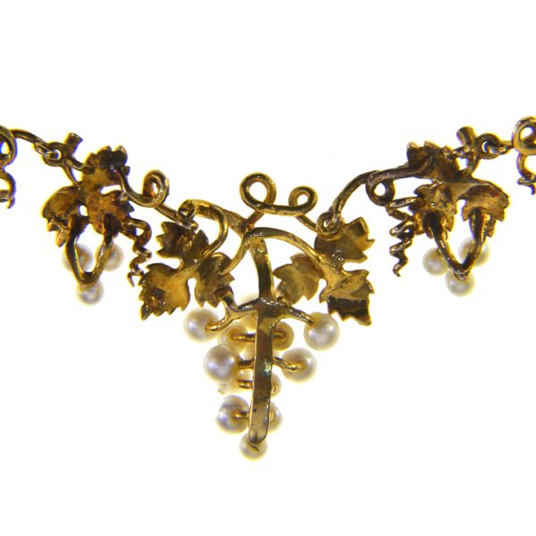 gold jewelry vine kordas black in diane lyst necklace normal product diamond