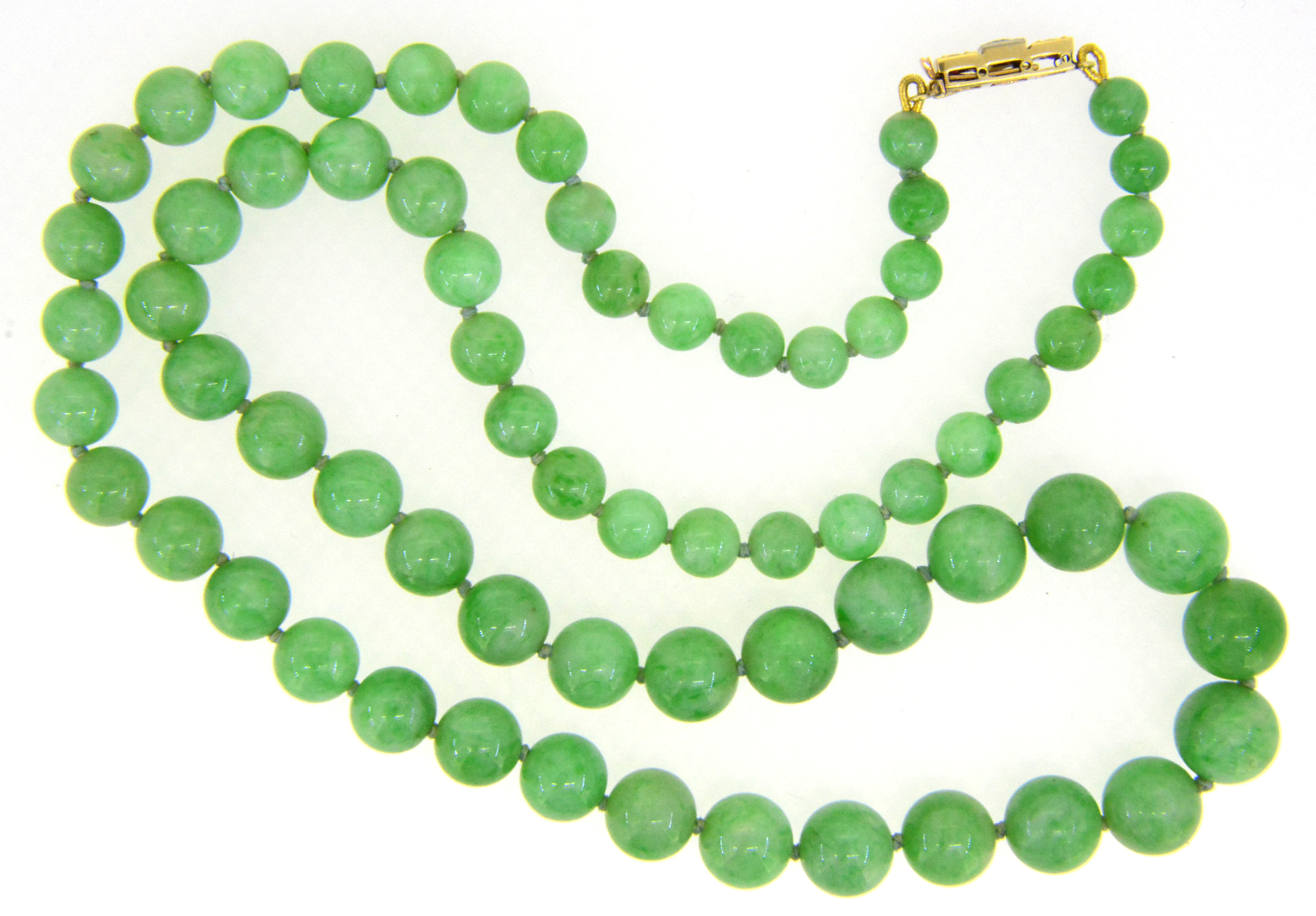 yellow necklace green orunla and santeria bead product