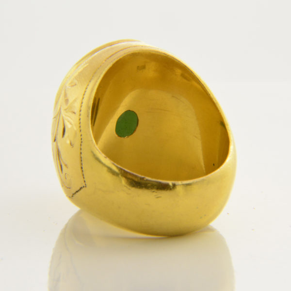 heavy gold jade ring