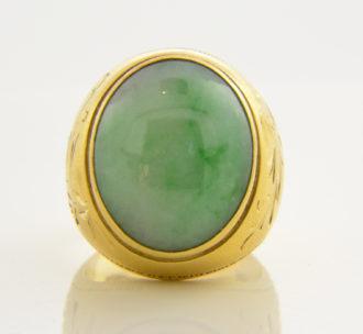 heavy gold jade ring