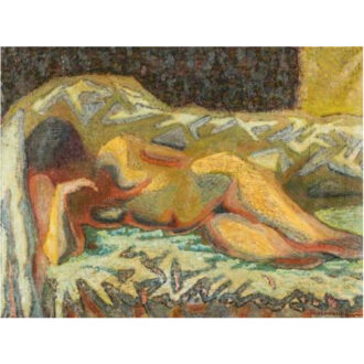 Zdzislaw Ruszkowski [1907-1990] - Reclining nude,- signed bottom right oil on canvas, 74 x 100cm.