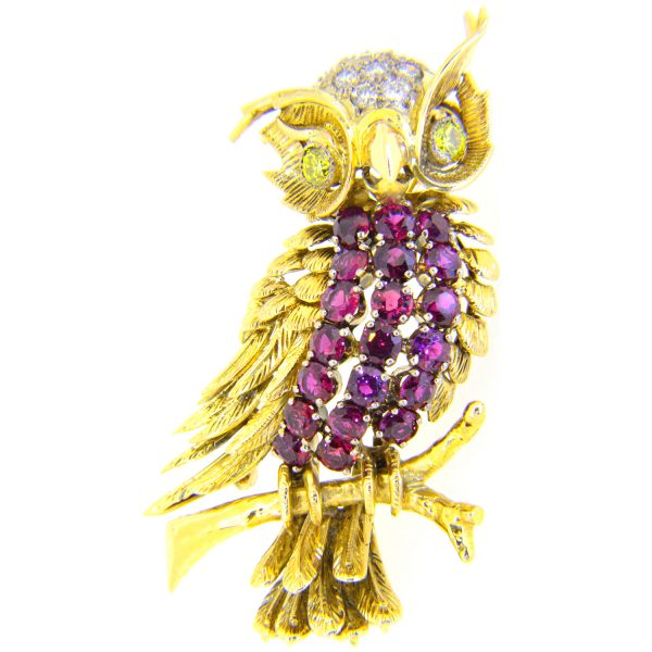 owl-brooch-ruby-diamond
