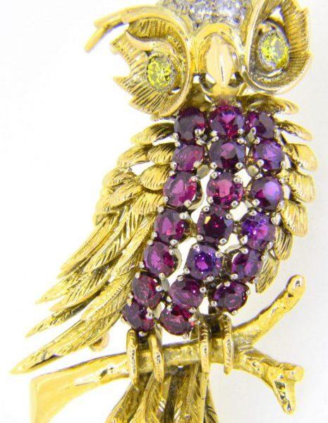 owl brooch Jack Gutschneider