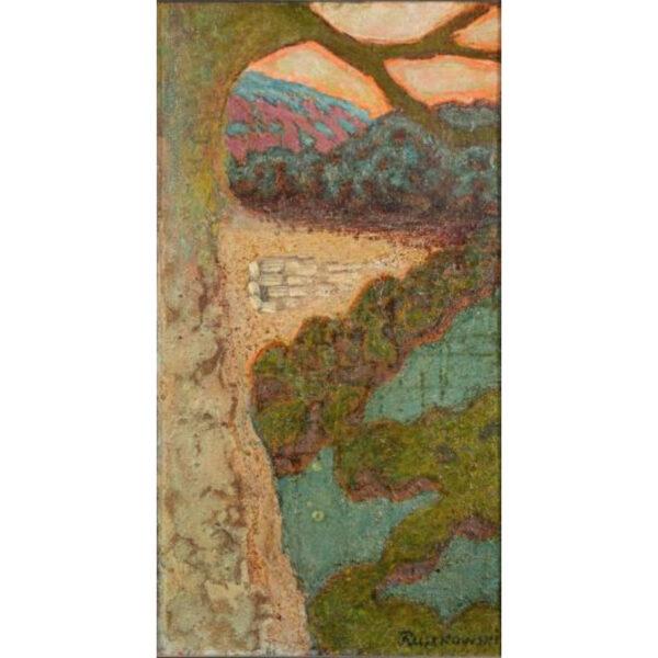 Zdzislaw Ruszkowski [1907-1990] - Valley landscape,