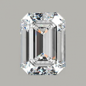 1.87ct, E, VS2 emerald-cut diamond