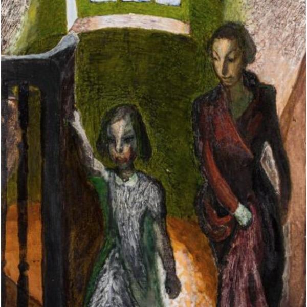 Zdzislaw Ruszkowski (1907-1990) - Climbing the Stairs;