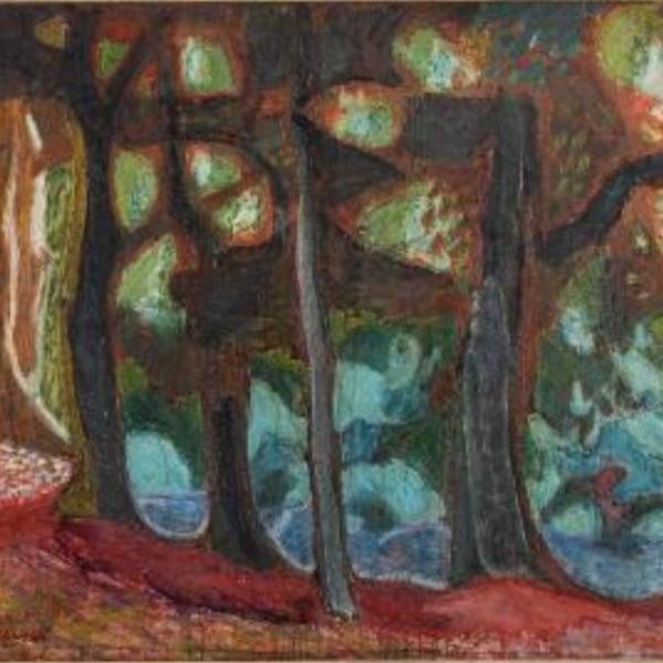 Zdzislaw Ruszkowski [1907-1990] - The Forest,- signed bottom left oil on canvas, 95x118cm.