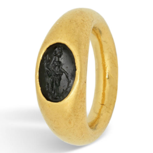 Roman gold intaglio ring