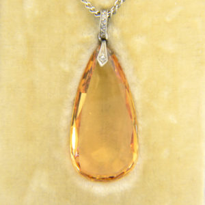 20ct tear drop topaz pendant 1930s