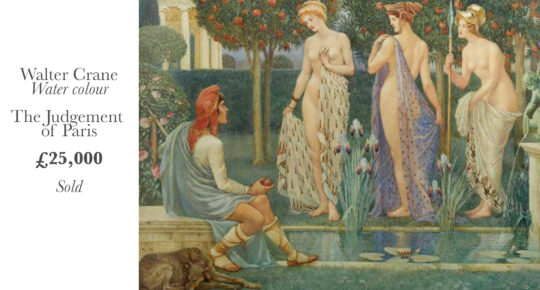 Walter Crane judgement of paris
