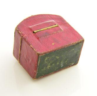 antique greenish diamond ring