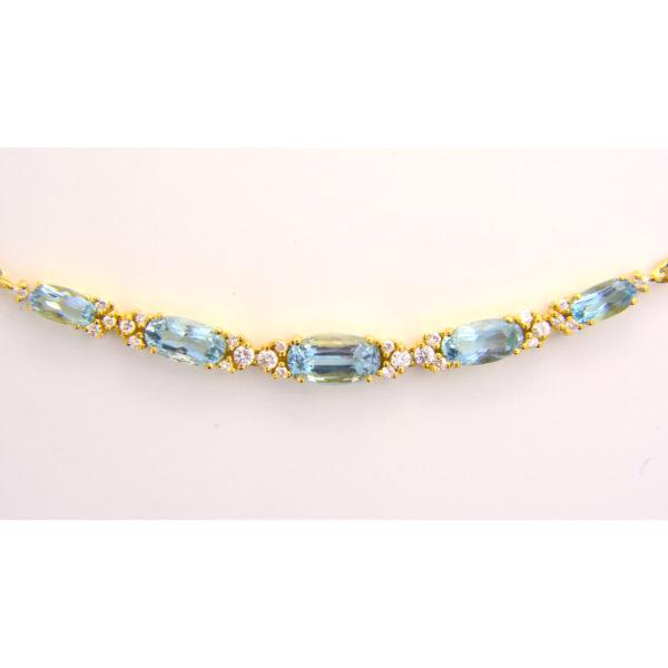 aquamarine diamond necklace