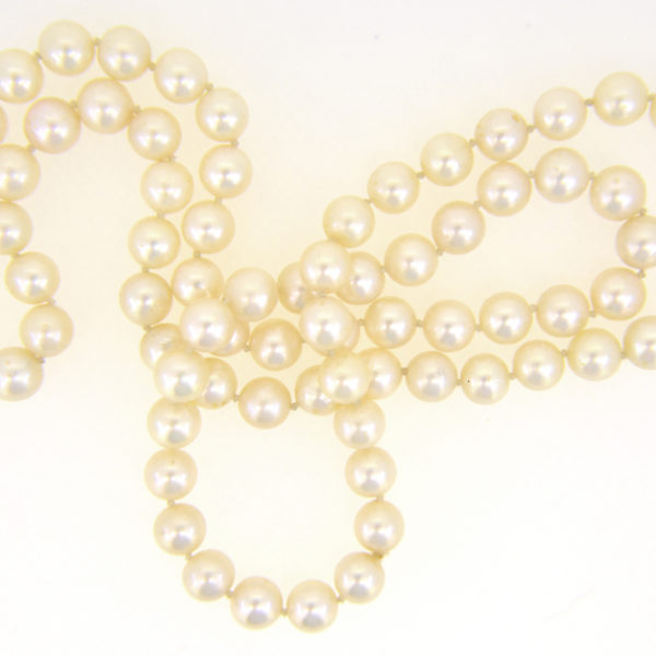 8mm cultured pearl rope necklace