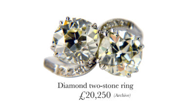Diamond 2 Stone Ring