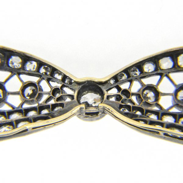 Victorian diamond bow brooch for sale