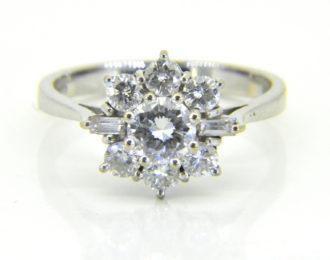 diamond circular cluster ring