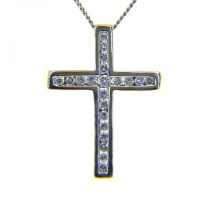 Diamond pendant cross 0.5ct