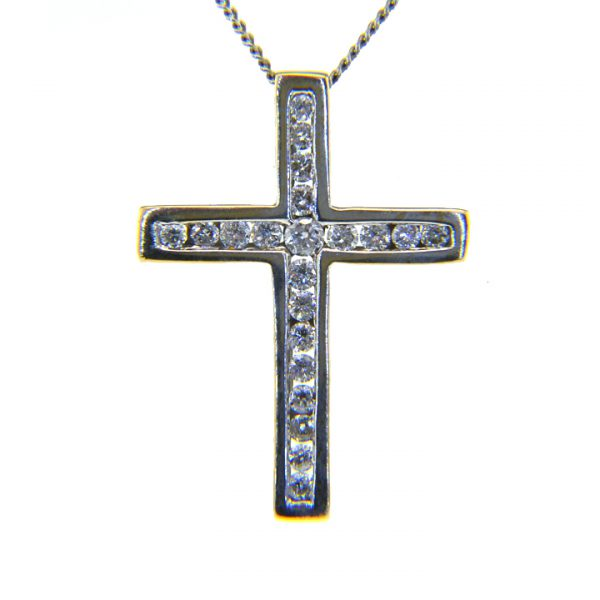 Diamond pendant cross 0.5ct