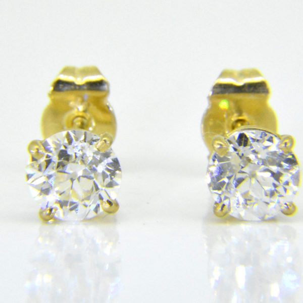 1.82ct diamond studs