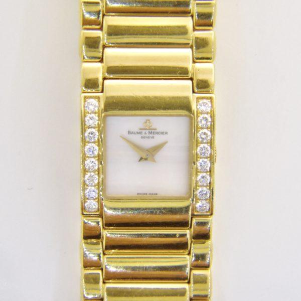 Baume Mercier ladys diamond wristwatch