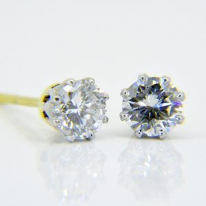 Diamond ear-studs
