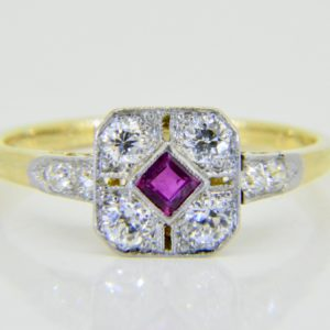 ruby diamond ring c.1930