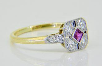 ruby diamond ring c.1930